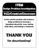 STEM Design Problem Investigation