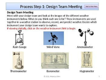 STEM Design for Learning: Designing Weather Instruments