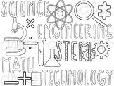 STEM Doodles Digital Clip Art Set- Black Line Version