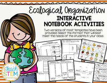STEM: Ecological Organization Interactive Notebook (INB) A