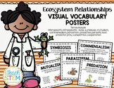 STEM Ecosystem Symbiotic Relationships Visual Vocabulary Posters