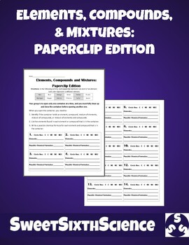 STEM Elements, Compounds, and Mixtures: Paperclip Edition