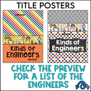 STEM Engineer Posters in Primary Colors