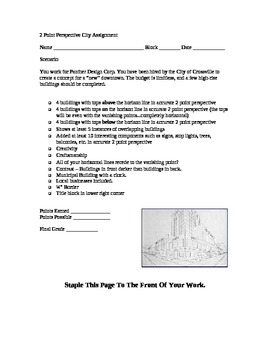 STEM Engineering - 2 Point Perspective City Assignment