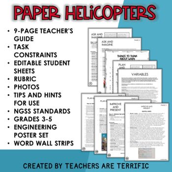 STEM Engineering Challenge Bundle Airplanes, Helicopters, and Rockets!