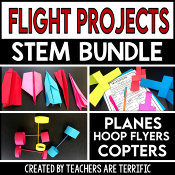 STEM Engineering Activity Bundle Airplanes, Helicopters, a
