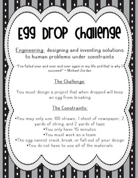 STEM Engineering Activity ~ Little Engineers Egg Drop Challenge