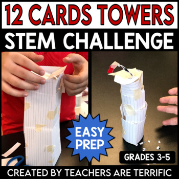 STEM Engineering Challenge A Design with Dozens Task ~ Card Towers