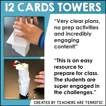STEM Engineering Challenge 12 Cards Towers