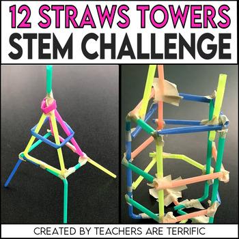 STEM Activity Challenge 12 Straws Towers