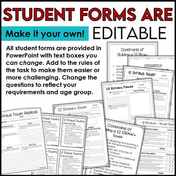 STEM Challenge 12 Straws Towers