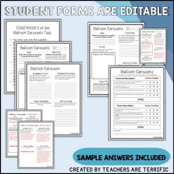 STEM Activity Challenge Balloon Carousels