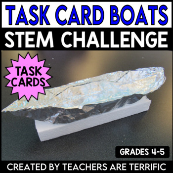 STEM Activity Challenge Boats and Math Task Cards
