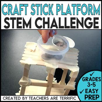 STEM Craft Stick Platforms Challenge