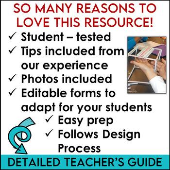 STEM Activity Challenge Straws Platforms