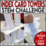 STEM Activity Challenge Build a Tower with Index Cards