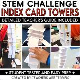 STEM Challenge Index Card Tower