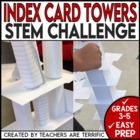 STEM Activity Challenge: Build a Tower with Index Cards