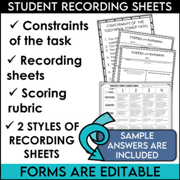 STEM Activity Challenge Build a Tower with Toothpicks