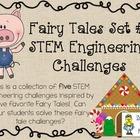 Fairy Tales STEM ~ STEM Engineering Challenge Five Pack ~ Fairy Tales Set #1
