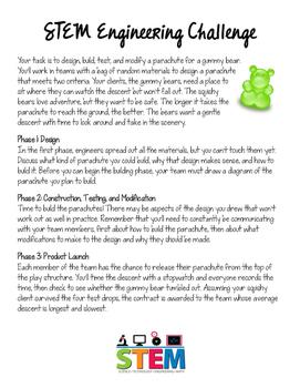 STEM Engineering Challenge: Gummy Bear Flight