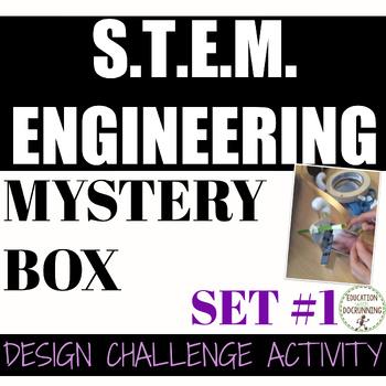 STEM Engineering Challenge: Mystery Box Engineering Design (Set #1)