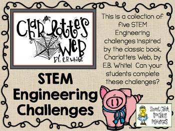 stem engineering challenge novel pack charlottes web by eb white