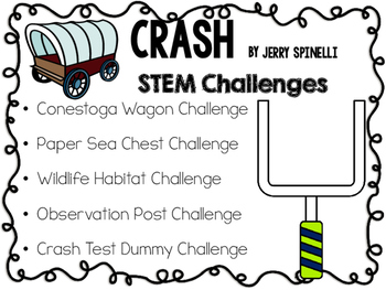 STEM Engineering Challenge Novel Pack ~ Crash, by Jerry Spinelli