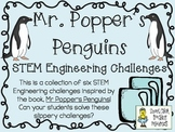 STEM Engineering Challenge Novel Pack ~ Mr. Popper's Penguins, by R. Atwater