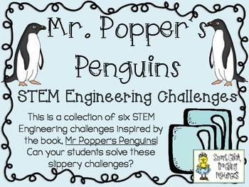 STEM Engineering Challenge Novel Pack ~ Mr. Popper's Pengu