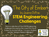 STEM Engineering Challenge Novel Pack ~ The City of Ember, by J. DuPrau