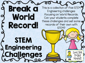 STEM Engineering Challenge Pack ~ Break a World Record! ~ Set of 5 Challenges