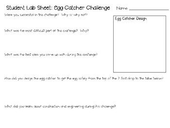 STEM Engineering Challenge Pack ~ Engineering with Eggs ~ Set of 5 Challenges