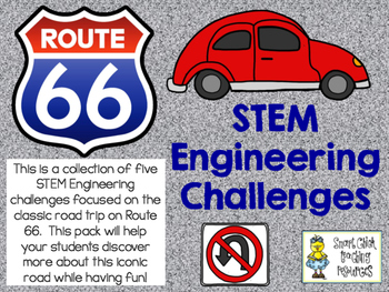 STEM Engineering Challenge Pack ~ Get Your Kicks on Route 66