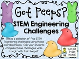 Got Peeps?  Easter STEM ~ STEM Engineering Challenge Pack ~ Set of Five!