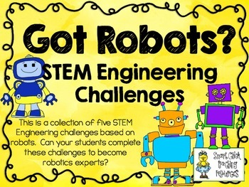 STEM Engineering Challenge Pack ~ Got Robots? Challenges ~ Set of Five!