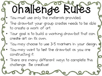 STEM Engineering Challenge Pack ~ Got Robots? Challenges ~ Set of Five!