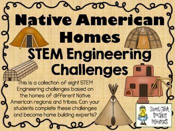 Native American Homes STEM ~ STEM Engineering Challenge Pack ~ Set of 9!