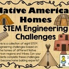 STEM Engineering Challenge Pack ~ Native American Homes Challenges ~ Set of 8!