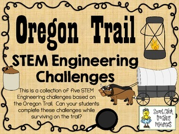 stem engineering challenge pack oregon trail challenges set of five. Black Bedroom Furniture Sets. Home Design Ideas