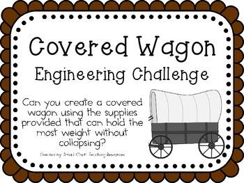 STEM Engineering Challenge Pack ~ Oregon Trail Challenges ~ Set of Five!