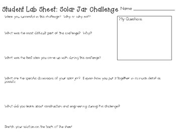 STEM Engineering Challenge Pack ~ Solar Energy Challenges ~ Set of Five!