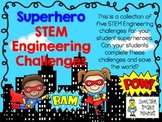 STEM Engineering Challenge Pack ~ Superhero Challenges ~ Set of Five!