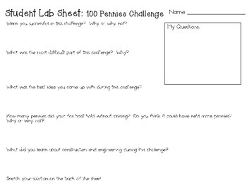STEM Engineering Challenge Pack ~ The 100th Day of School Challenges