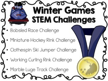 STEM Engineering Challenge Pack ~ The Winter Games Challenges