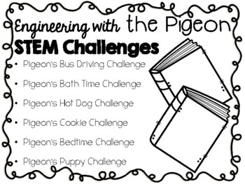 STEM Engineering Challenge Picture Book Pack ~ The Pigeon Books, by Mo Willems