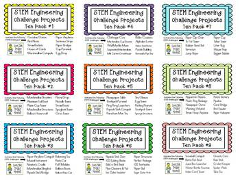 STEM Engineering Challenge Projects ~ ALL NINE TEN PACKS on Flash Drive!