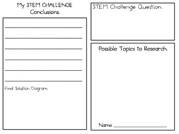 STEM Engineering Challenge Projects ~ Student LAB Book for ANY Challenge