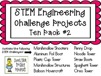 STEM Engineering Challenge Projects ~ TEN PACK #2