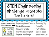 STEM Engineering Challenge Projects ~ TEN PACK #3